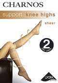 Charnos Sheer Support Knee Highs (2 Pair Pack)