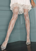 Charnos Bridal Floral Net Tights