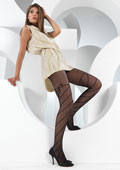 Levante Spiral Bow Garter Tights