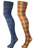Pamela Mann Jackson Plaid Tartan Tights