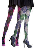 Pretty Polly Argyle Cotton Rich Opaque Tights