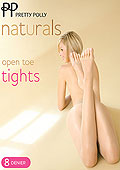 Pretty Polly Natural Open Toe Tights