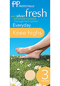Pretty Polly Silver Fresh Every Day Knee High (3 PP)