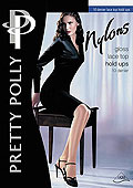 Pretty Polly Nylon Gloss Lace Top Hold Ups